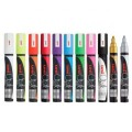 Liquid chalk markers for school board and glass