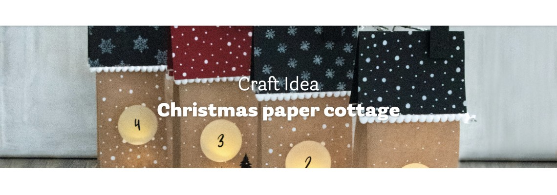 Christmas paper cottage