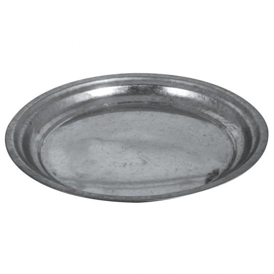 Zinc-deco plate, 30cm ø, 2.5cm
