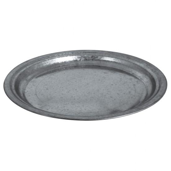 Zinc-deco plate, 36cm ø, 2.5cm