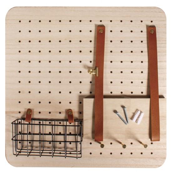 """Starter Set """"Pin & Peg"""", 40x40x2.5cm, incl.hanger, box 1Set"""
