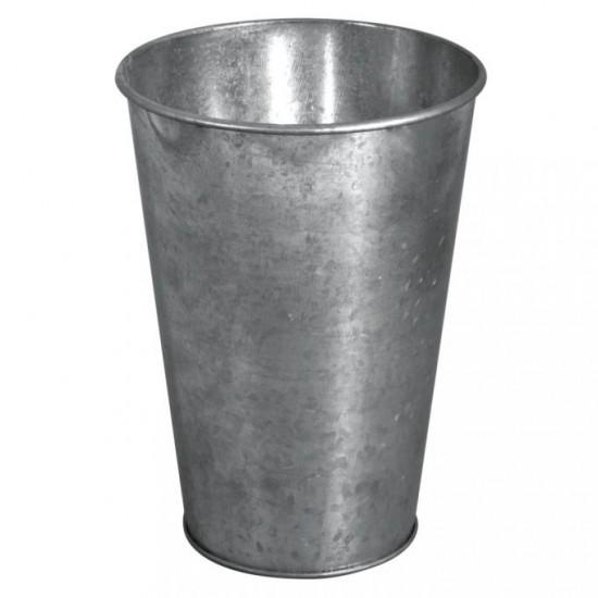 Zinc-deco vase, 7.5-11.5cm ø, 15.8cm
