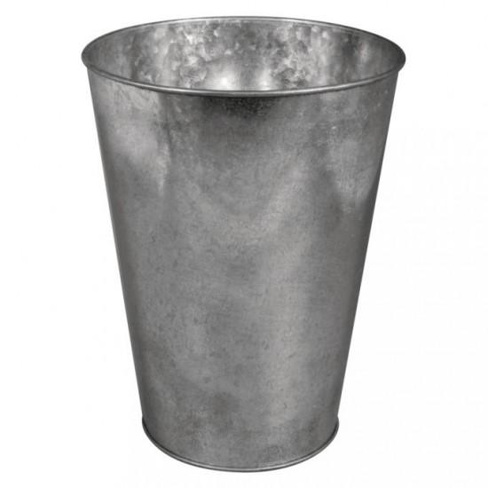 Zinc-deco vase, 10-15cm ø, 20cm