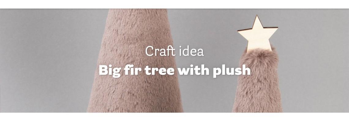 Big fir tree with plush